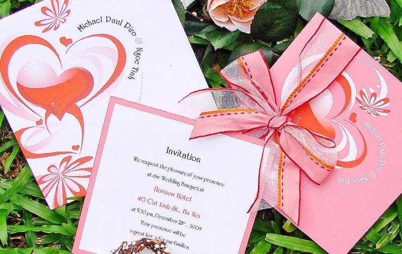 Thiệp Hồng cho một đám cưới đẹp