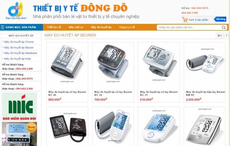 Website của Thiết Bị Y Tế Đông Đô