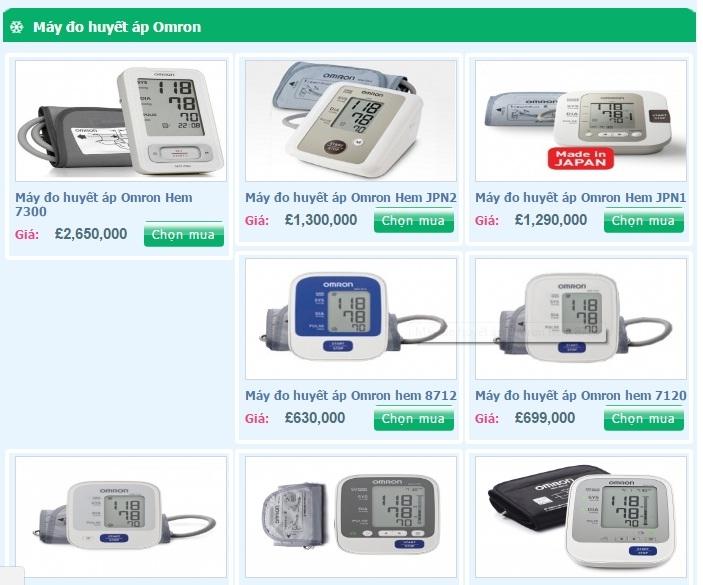 Các sản phẩm máy đo huyết áp của Thiết Bị Y Tế Quân Y