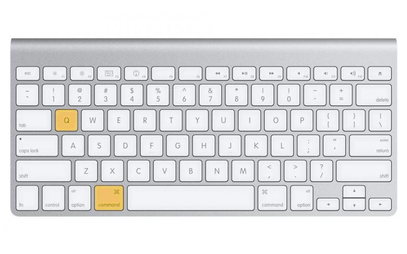 Dùng combo phím Command + Q để thoát hoàn toàn ứng dụng