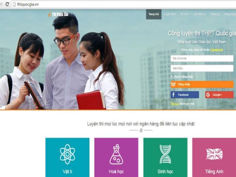 Website luyện thi đại học Thiquocgia.vn
