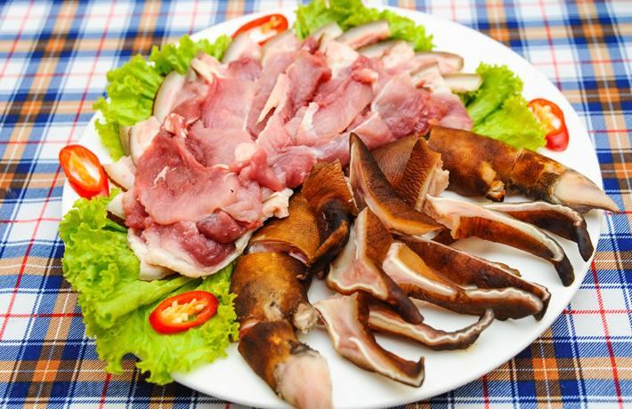 Đặc sản thịt lợn rừng