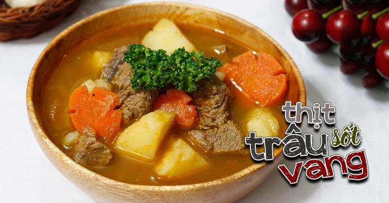 Thịt trâu được chế biến thành nhiều món ăn khác nhau