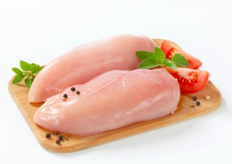 Ức gà chứa lượng đạm dồi dào nhưng chứa rất ít chất béo.