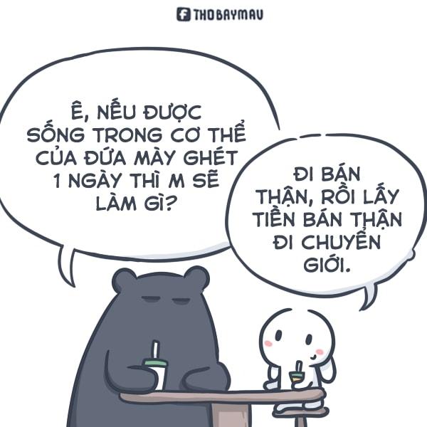Đôi bạn thân Thỏ - Gấu nổi tiếng trang mạng Facebook.