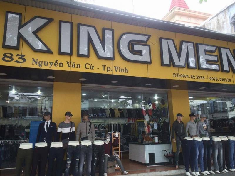 Shop KING MEN tại 83 Nguyễn Văn Cừ, tp Vinh