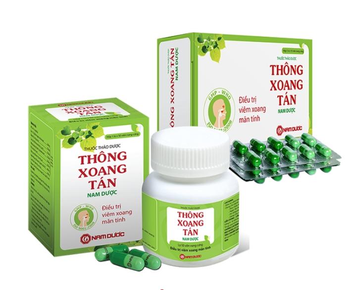 Sản phẩm thảo dược điều trị viêm mũi, viêm xoang mãn tính Thông Xoang Tán