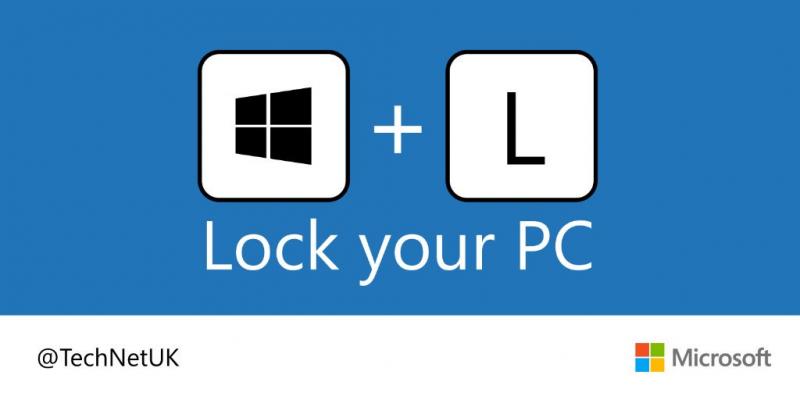 Khóa máy nhanh với Windows + L