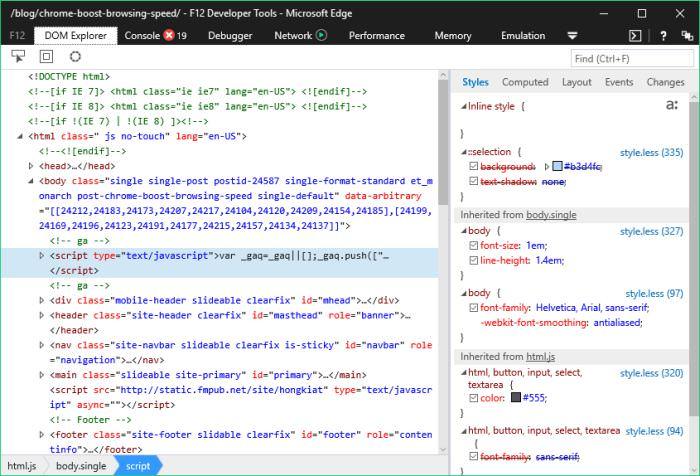 Chỉnh sửa trình duyệt Chrome