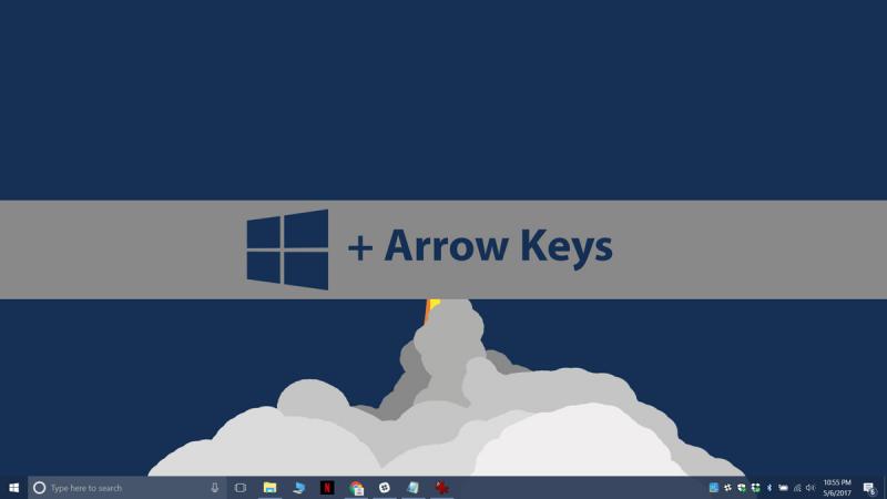 Thao tác phím Windows với các phím mũi tên