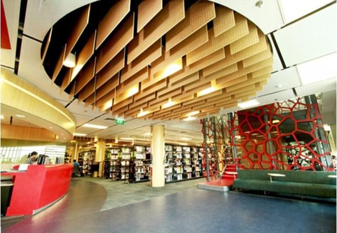 Bên trong thư viện Đại học RMIT