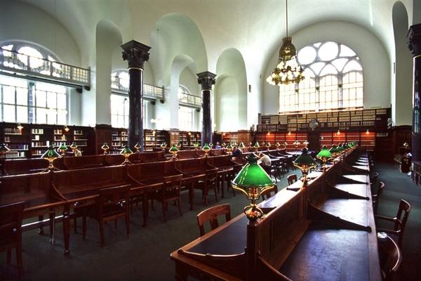 Một phòng đọc sách của thư viện Hoàng gia Copenhagen.