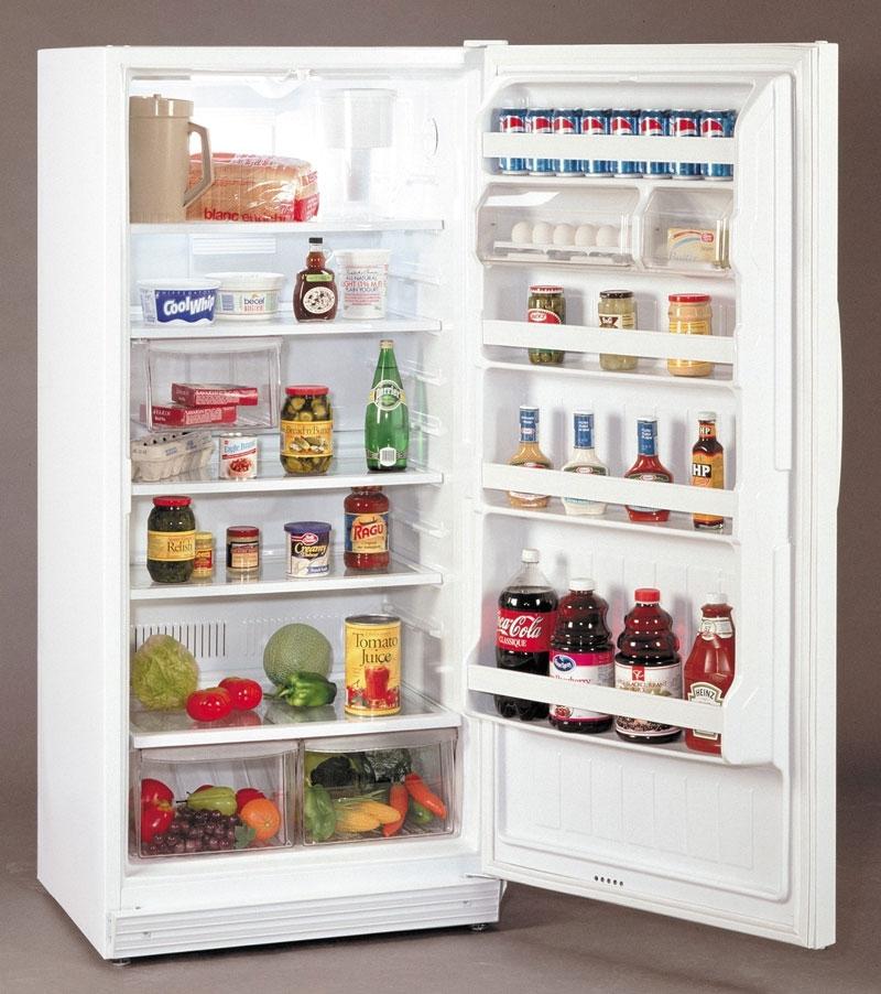 Thức ăn được đặt ở cánh tủ lạnh