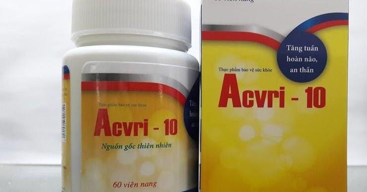 Thực phẩm chức năng Acvri 10 giảm stress và mất ngủ