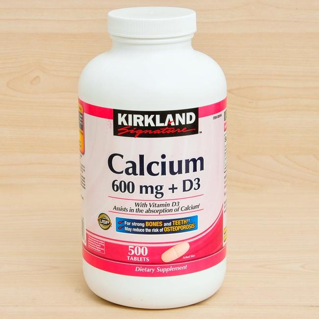 Calcium 500 viên có giá 360.000 đồng một hộp giúp xương chắc khỏe