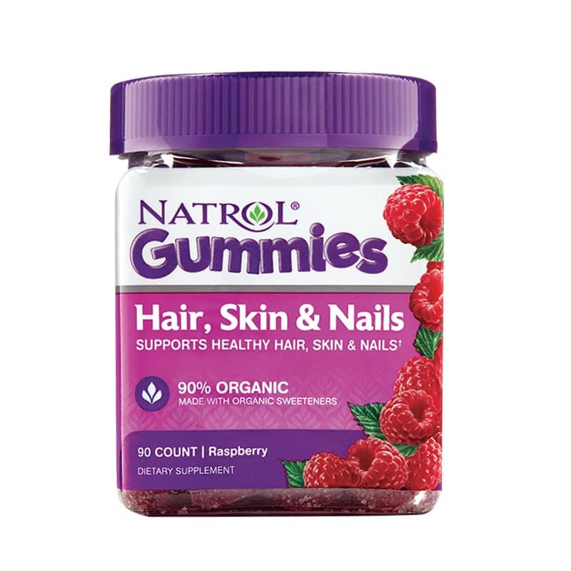 Thực phẩm chức năng kẹo dẻo Natrol Gummies Hair, Skin & Nails