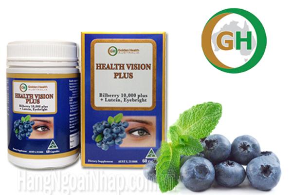 Thực phẩm chức năng Thuốc Bổ Mắt Golden Health Health Vision Plus Bilberry