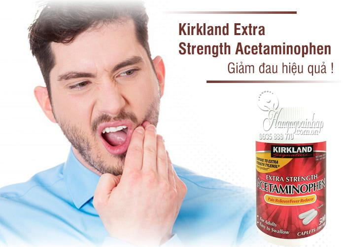 Thuốc giảm đau Kirkland Extra Strength Rapid Release Acetaminophen 500mg chai 400 viên kiểm định là thuốc có hiệu quả và chất lượng tốt.
