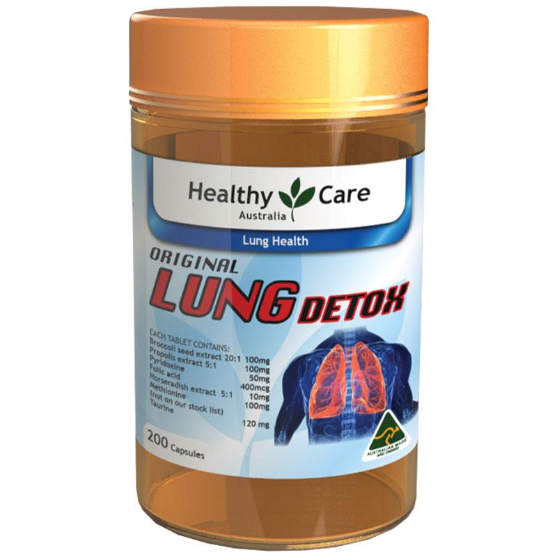 Thực phẩm chức năng Viên uống giải độc phổi Healthy Care Original Lung Detox Úc