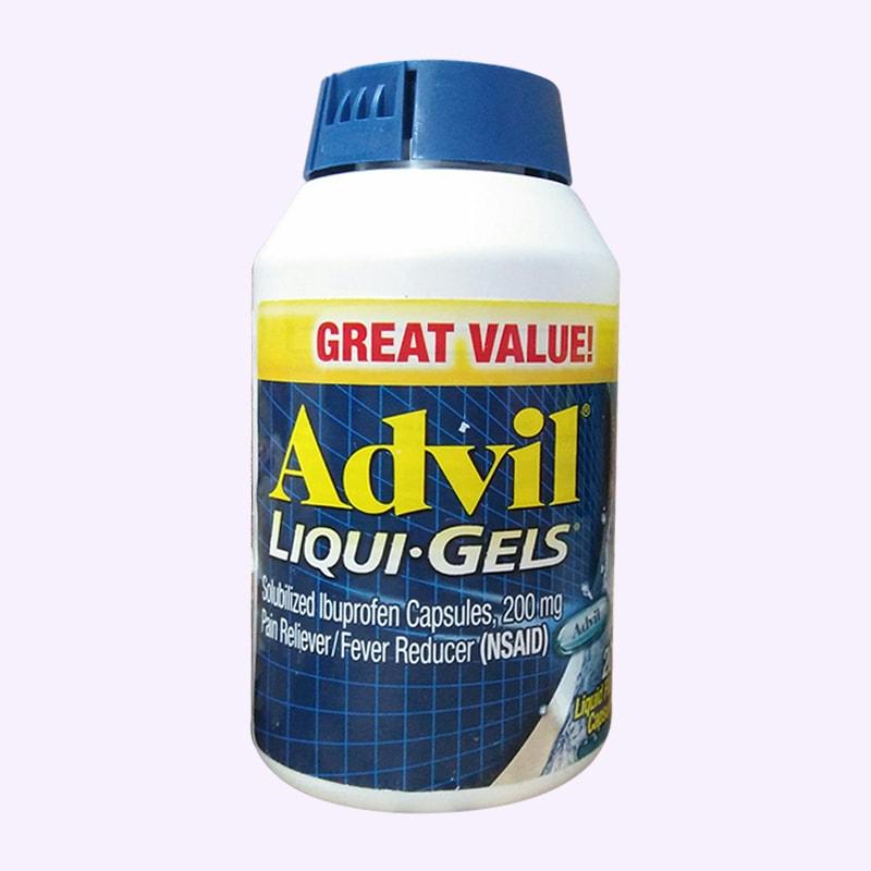 Thực phẩm chức năng Viên uống giảm đau Advil Liqui Gels 200mg hộp 200 viên của Mỹ