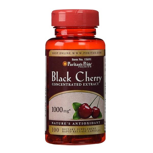 Thực phẩm chức năng Viên uống Puritan's Pride Black Cherry 1000mg của Mỹ 100v