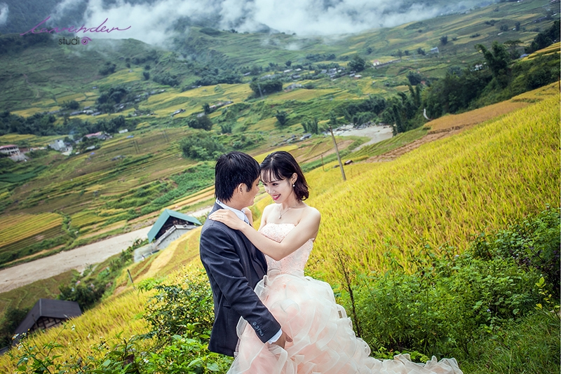 Những giây phút tuyệt vời của cô dâu, chú rể bên bộ ảnh cưới tại thung lũng Mường Hoa