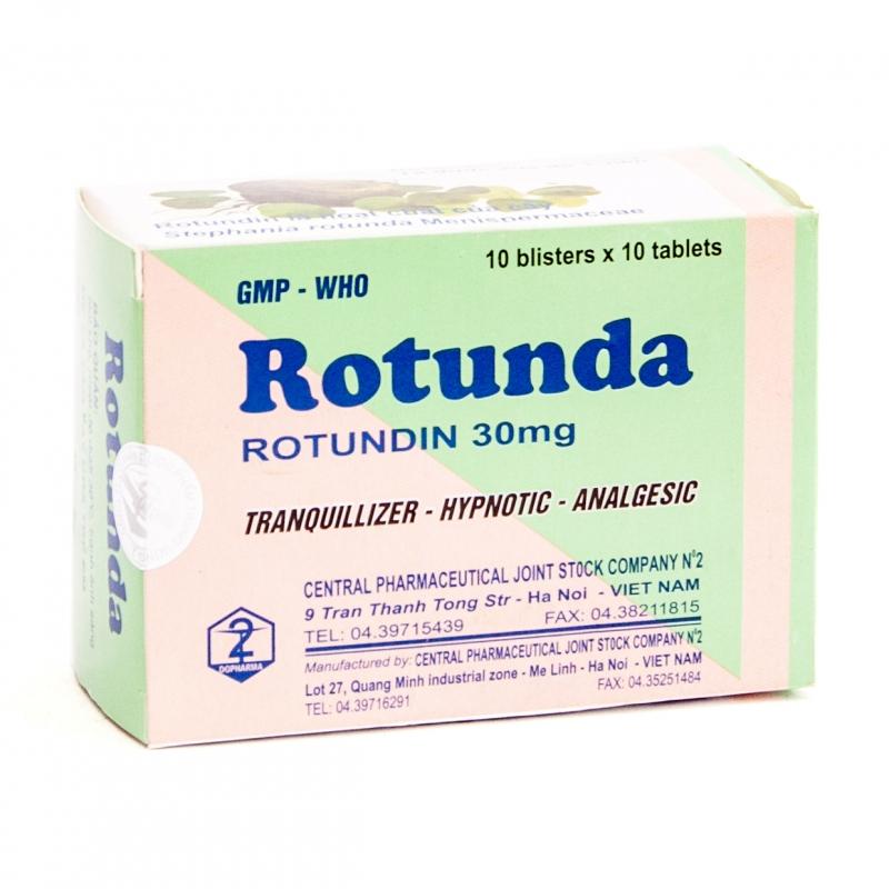 Rotunda được dùng trong các trường hợp lo âu, căng thẳng