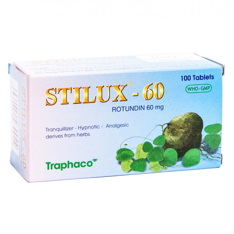 Thuốc an thần STILUX có chứa Rotundin, một hoạt chất được tinh chiết từ củ Bình vôi
