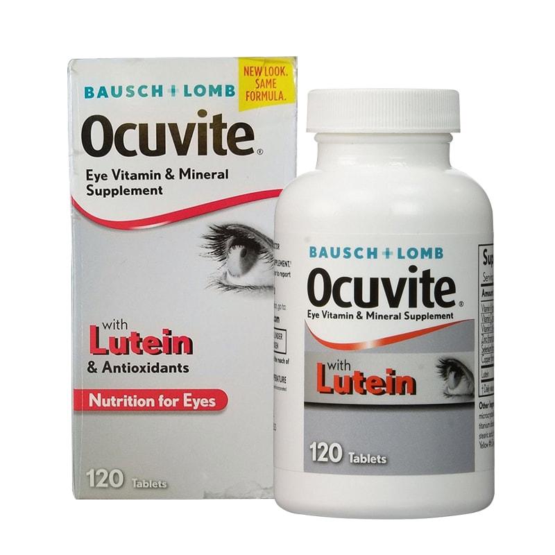 Thực phẩm chức năng Thuốc bổ mắt Ocuvite Eye Vitamin & Mineral with Lutein 120 viên