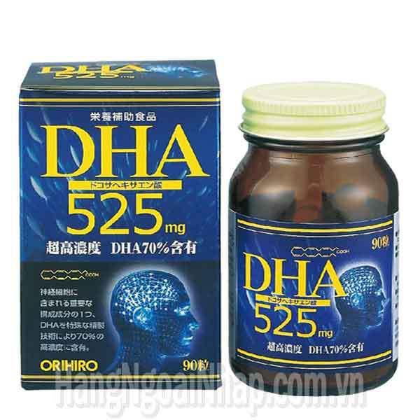 Thực phẩm chức năng Thuốc Bổ Não Dha Orihiro 525mg 90 Viên chính hãng Của Nhật