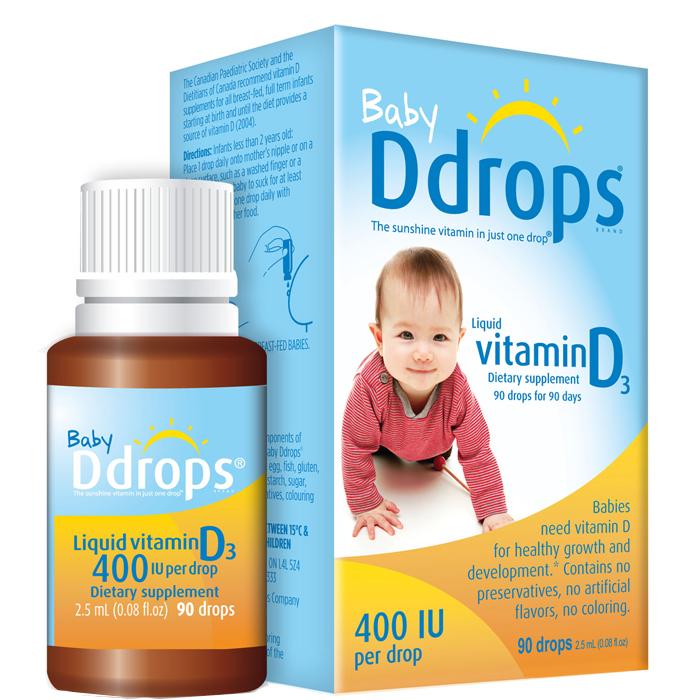 Sản phẩm bổ sung Vitamin D cho trẻ sơ sinh Baby Ddrops Vitamin D3 400IU