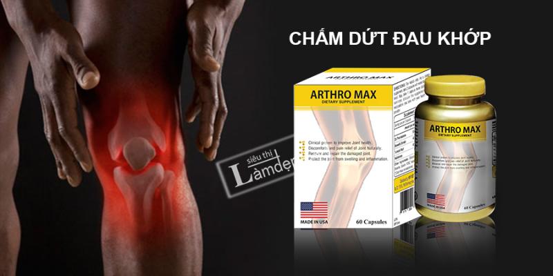 Arthro Max giúp Giúp tăng cường, tái tạo sụn khớp, tăng độ bền và dẻo dai cho khớp, giúp giảm đau xương khớp cấp tính và mãn tính, phòng ngừa và làm chậm quá trình thoái hóa khớp.