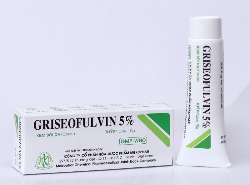 Thuốc đặc trị nấm da Griseofulvin