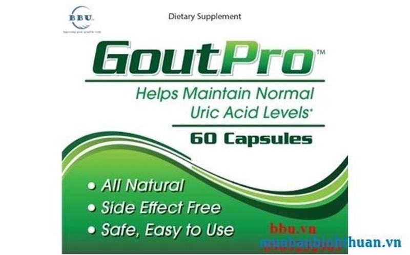 Thuốc điều trị bệnh GoutPro Uric Acid Cleanse Inflammation Supplement 60 viên