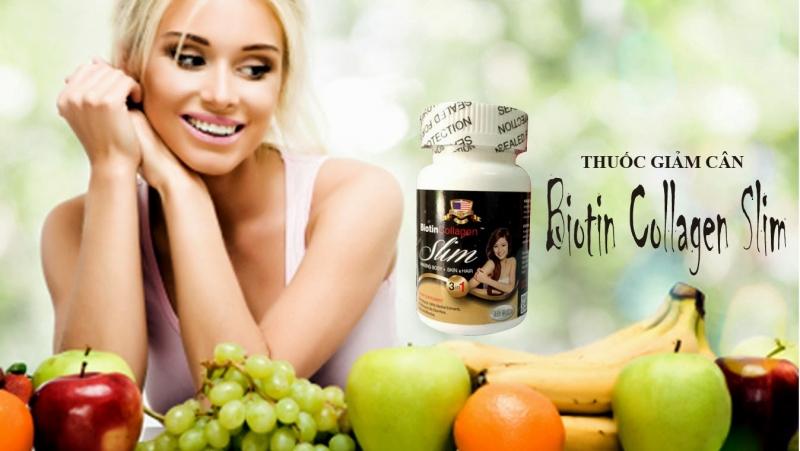 Viên uống giảm cân Biotin Collagen Slim (Mỹ)