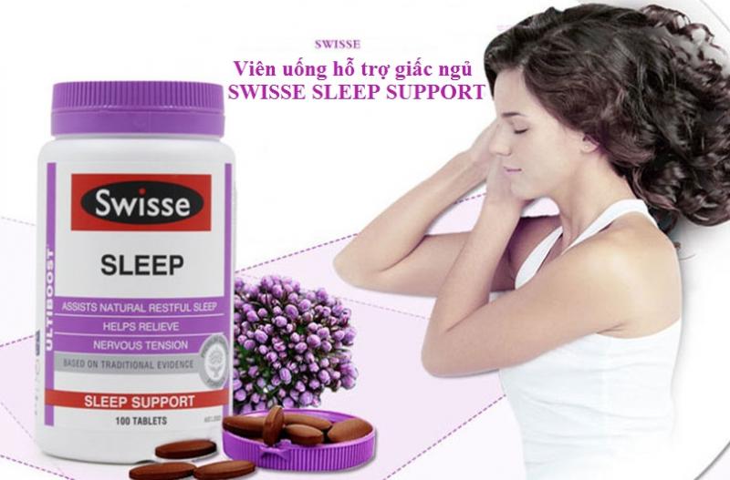 Viên uống hỗ trợ giấc ngủ Swisse Sleep Support 100 viên: