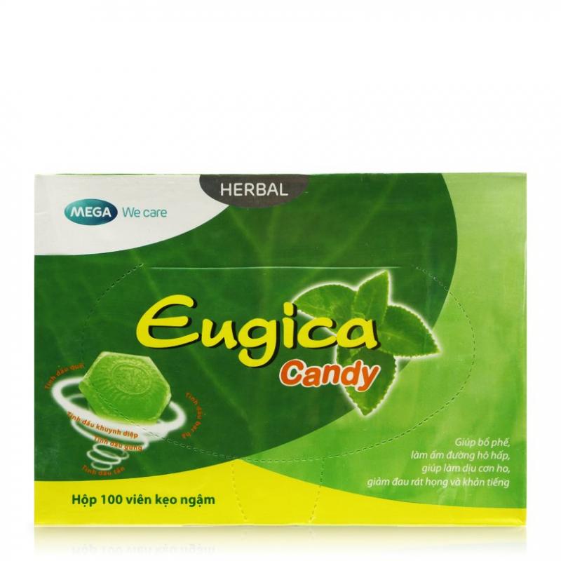 Viên ngậm Eugica giảm ho, viêm họng, rát cổ