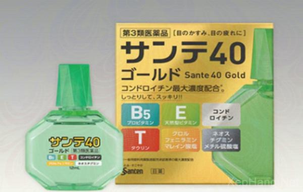 Thuốc nhỏ mắt Sante 40 Gold bổ sung vitamin E, T, B5