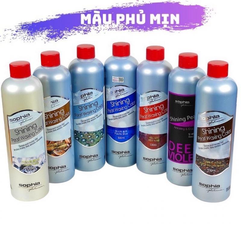 Thuốc nhuộm phủ mịn (bóng) Sophia Platinum Shining Peart Waxing Colour
