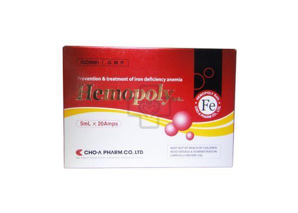Hemopoly thuốc sắt dạng ống