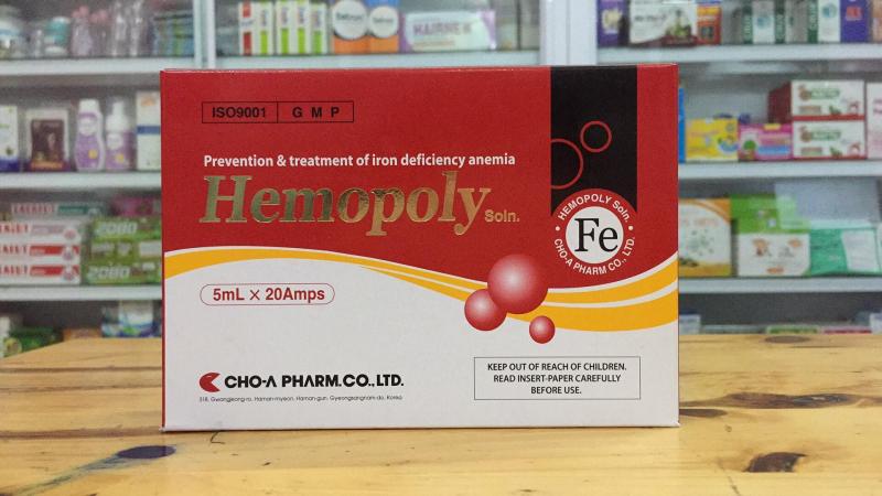 Dung dịch uống HEMOPOLY ngăn ngừa và điều trị thiếu máu do thiếu sắt, vị ngọt dễ uống, dễ hấp thu và không lo táo bón.