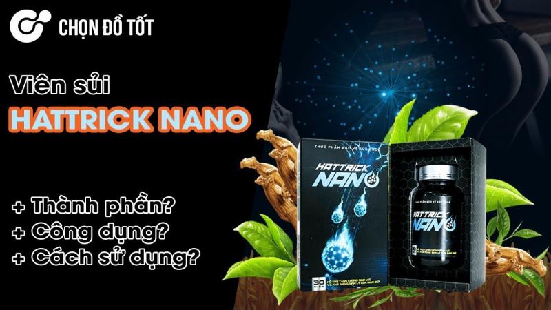 Viên uống tăng cường sinh lý, tăng kích thước dương vật Hattrick Nano