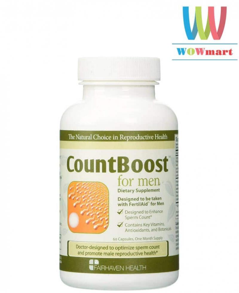 Viên uống tăng số lượng tinh trùng Fairhaven Health CountBoost For Men 60 viên
