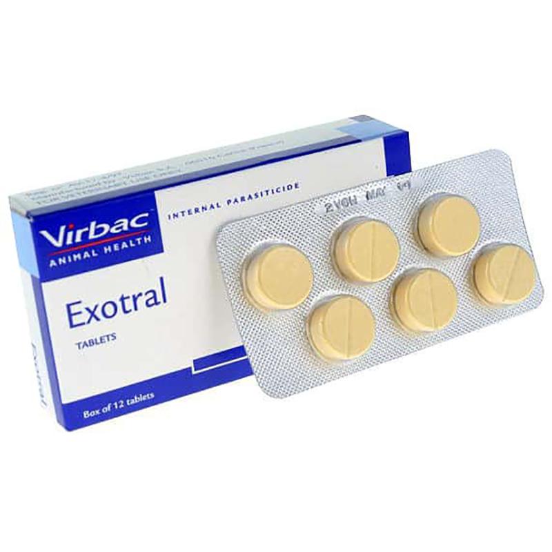 Thuốc tẩy giun cho chó Exotral