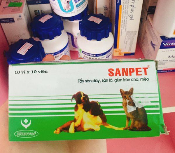 Thuốc tẩy giun chó Sanpet