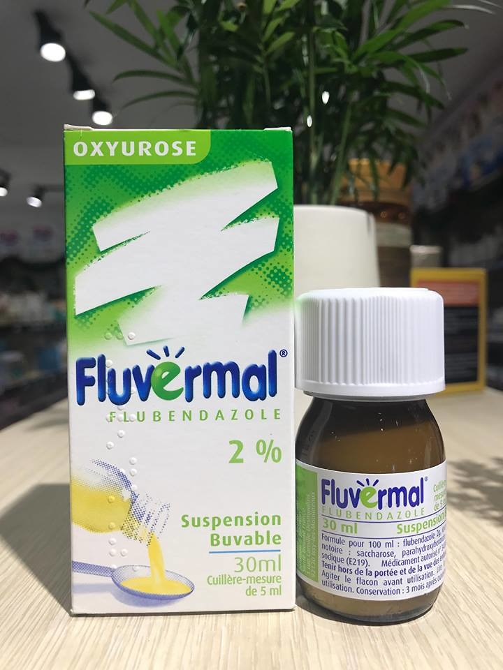 Siro tẩy giun Fluvermal 30ml – Pháp