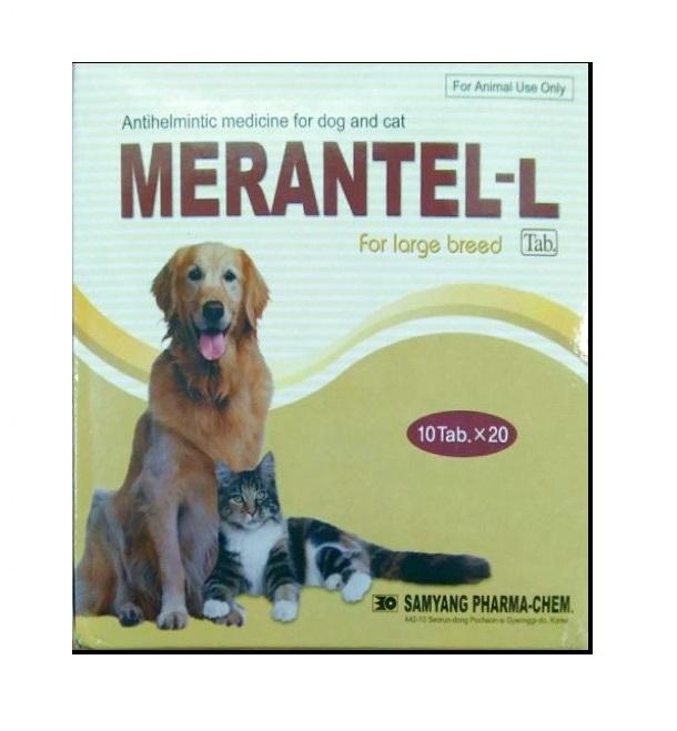 Thuốc tẩy giun Merantel - L (3 vỉ 10 viên)