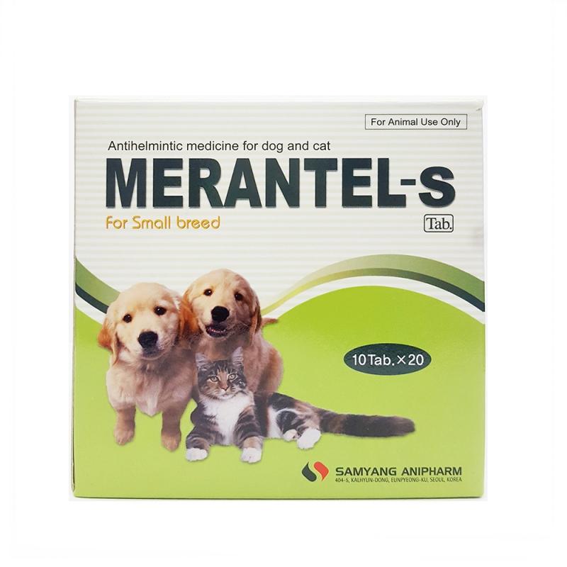 Thuốc tẩy giun Merantel - S (2 vỉ 10 viên)