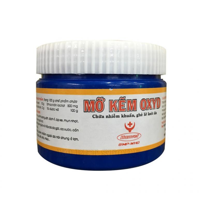 Thuốc trị nấm cho mèo mỡ kẽm oxyd