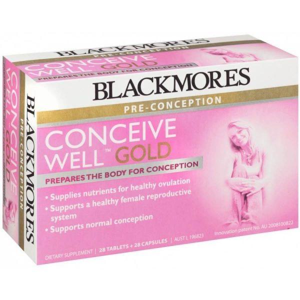Viên uống giúp tăng khả năng thụ thai Blackmores Conceive Well Gold 56 viên